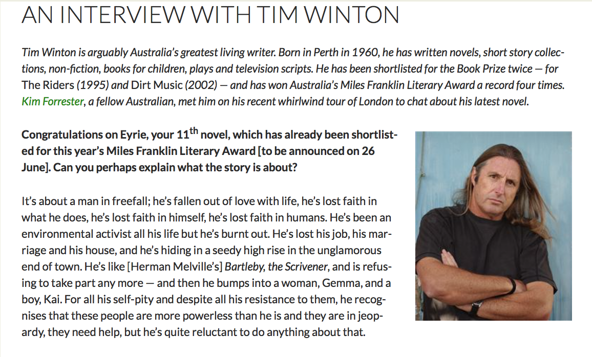 secrets essay tim winton Free tim winton papers, essays john wade and kathy are in a marriage so obscure that their secrets lead to an emotional tim burton style analysis essay.